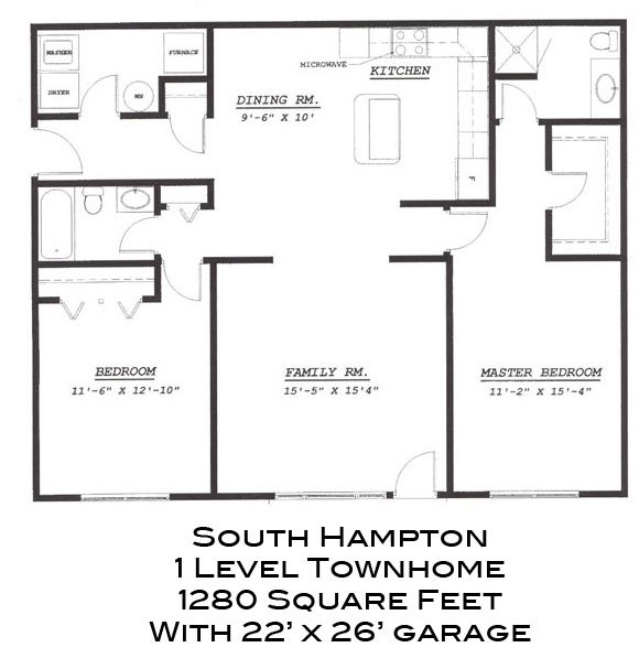 South Hampton 1 Level Townhome