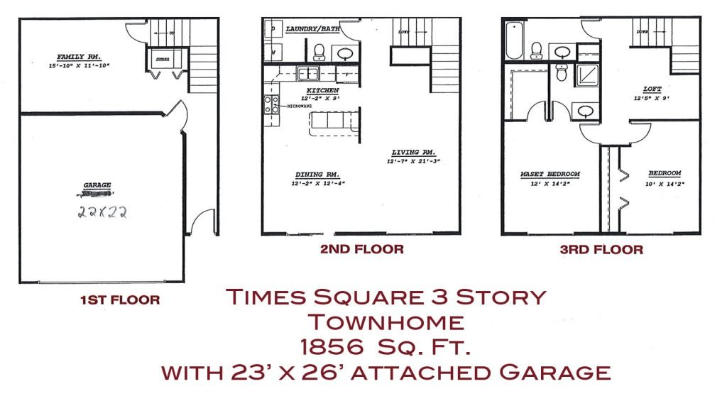 Times Square Luxury Townhomes for rent in Grand Forks with washer/dryer