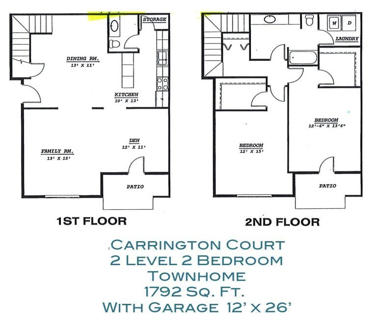 2 Bedroom Large Townhome Apartment Grand Forks