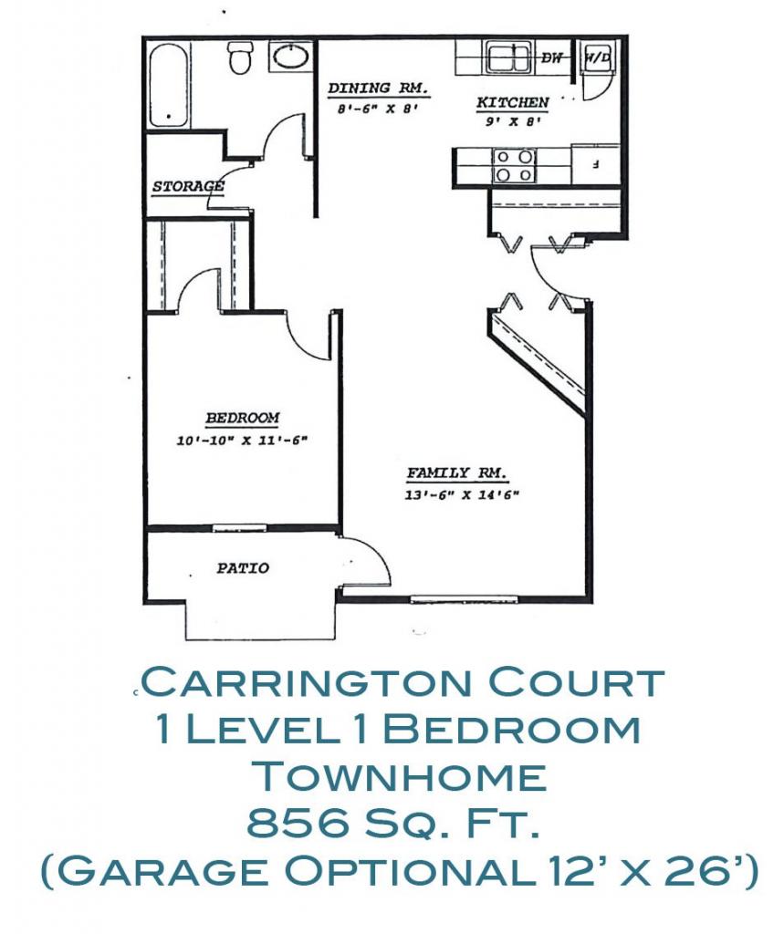 Carrington Court 1 Level 1 Bedroom Apartment Grand Forks
