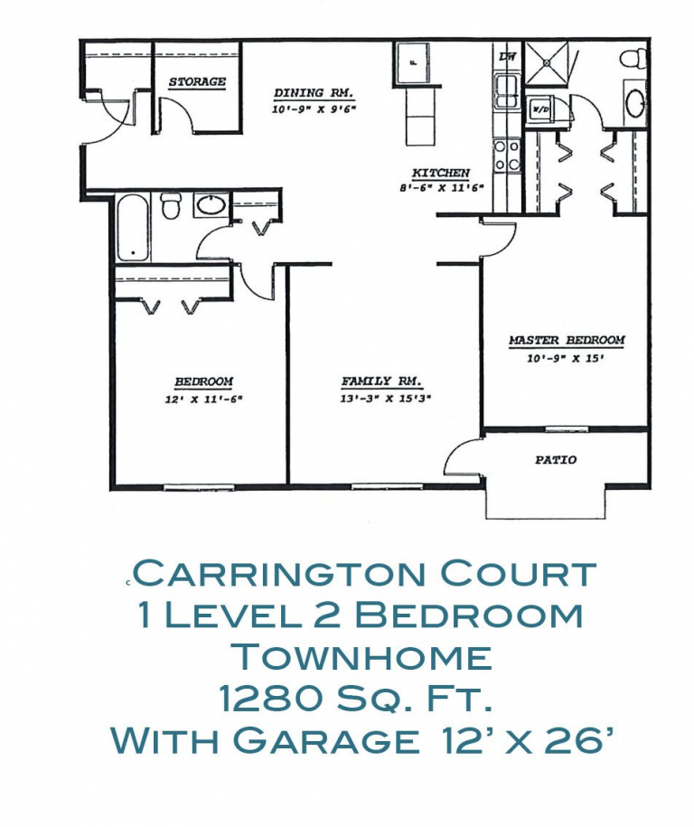 Apartment For Rent 1 Level 2 Bedroom Townhome