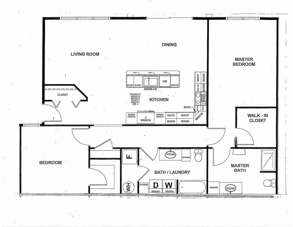Empire 2 Bedroom Floor Plan B-2